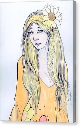 Sunflower Sara Canvas Print