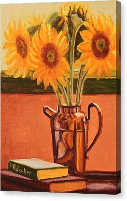 Sunflower Still Life Canvas Print