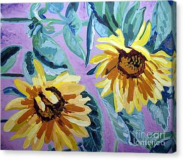 Sunflower Canvas Print by Vicky Tarcau