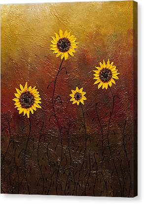 Sunflowers 3 Canvas Print by Carmen Guedez
