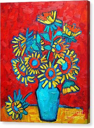 Sunflowers Bouquet Canvas Print by Ana Maria Edulescu