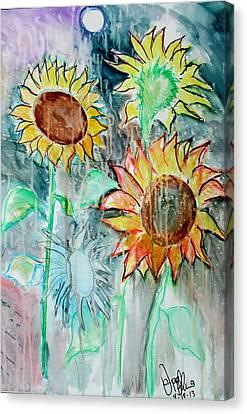 Sunflowers Calm  Canvas Print by Jon Baldwin  Art