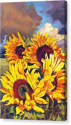 Sunflowers Canvas Print by David Randall