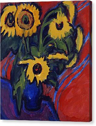 Sunflowers Canvas Print by Ernst Ludwig Kirchner