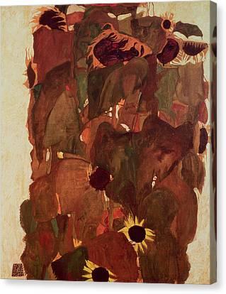 Sunflowers II, 1911 Canvas Print by Egon Schiele