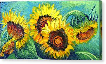 Sunflowers Canvas Print by Isabelle Gervais