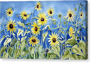 Sunflowers Canvas Print by Joan Hartenstein