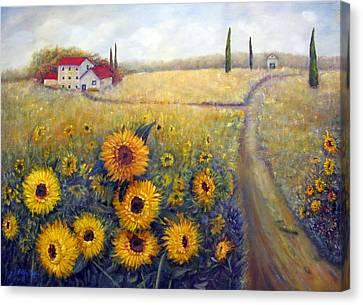 Sunflowers Canvas Print by Loretta Luglio