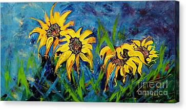 Sunflowers Canvas Print by Lyn Olsen