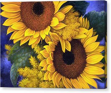 Sunflowers Canvas Print by Mia Tavonatti