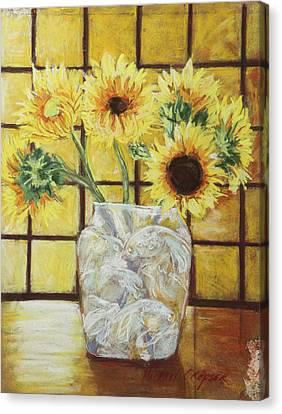Sunflowers Canvas Print by Michael Crapser