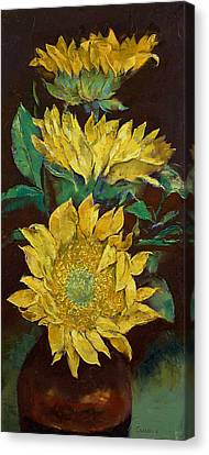 Sunflowers Canvas Print by Michael Creese