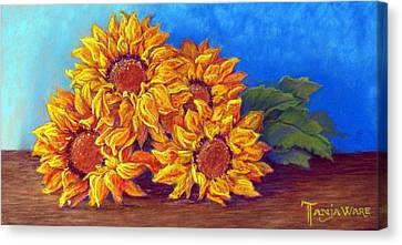 Canvas Print - Sunflowers Of Fall by Tanja Ware