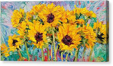 Sunflowers Canvas Print by Steven Boone