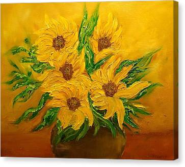 Canvas Print - Sunflowers by Svetla Dimitrova