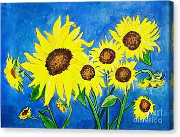 Sunflowers Canvas Print by Virginia Ann Hemingson