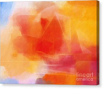 Sunglow Sailing Canvas Print