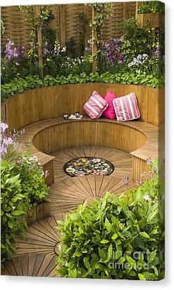 Disk Canvas Print - Sunken Garden by Anne Gilbert