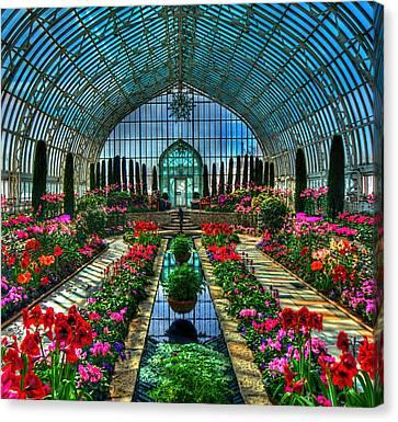 Sunken Garden Marjorie Mc Neely Conservatory Canvas Print