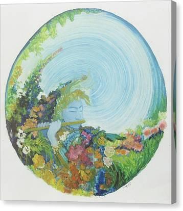 Reflection In The Sunken Tea Garden Canvas Print