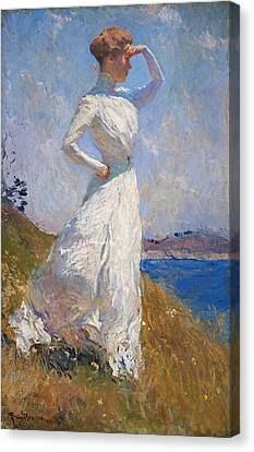 Sunlight Frank Weston Benson 1909 Canvas Print by Movie Poster Prints