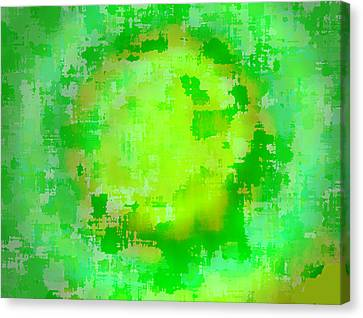 Original Abstract Art Painting Sunlight In The Trees  Canvas Print by RjFxx at beautifullart com