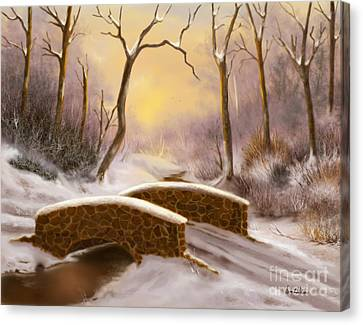 Sunlight In Winter Canvas Print