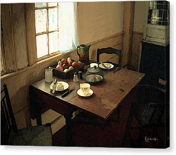 Sunlight On Dining Table Canvas Print by RC deWinter