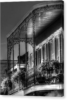Chrystal Canvas Print - Sunlight On New Orleans Balcony by Greg and Chrystal Mimbs