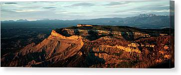 Sunlight On Rock Formations, Park Point Canvas Print by Panoramic Images