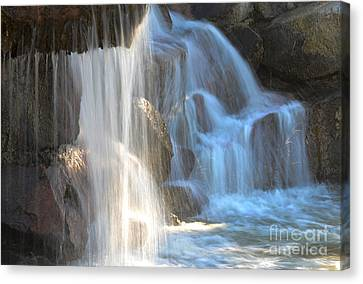 Sunlight On The Falls Canvas Print by Deb Halloran