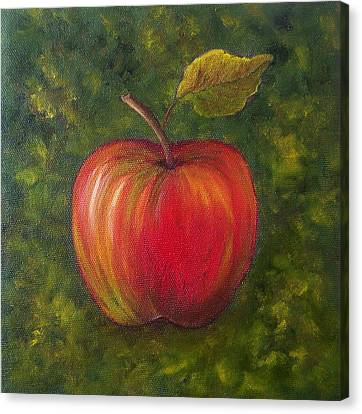 Sunlit Apple Sold Canvas Print by Susan Dehlinger