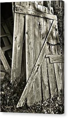 Sunlit Barn Door Canvas Print