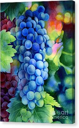 Sunlit Grapes Canvas Print by Hailey E Herrera