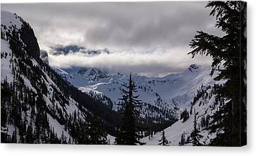 Sunlit Mount Shuksan Canvas Print by Mike Reid