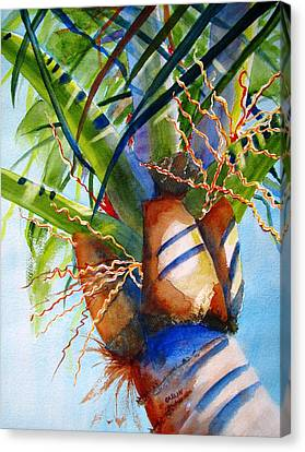 Sunlit Palm Canvas Print by Carlin Blahnik