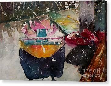 Sunlit Rowboat Canvas Print