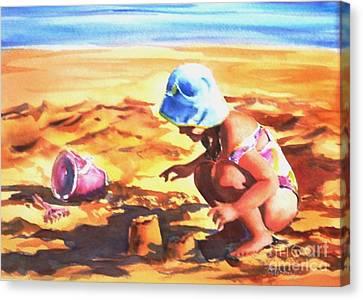 Sunmerged In Fun Canvas Print