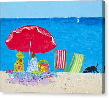 Sunny Afternoon At The Beach Canvas Print