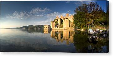 Sunny Afternoon On Golubac Fortress Canvas Print