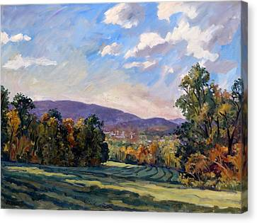 Thor Canvas Print - Sunny Autumn Berkshires by Thor Wickstrom