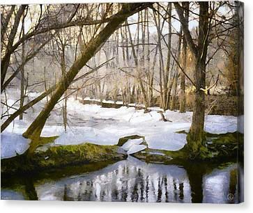 Bare Trees Canvas Print - Sunny But So Cold by Gun Legler