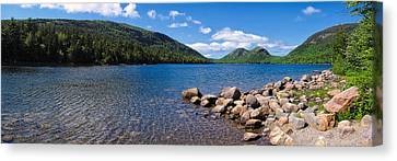 Canvas Print featuring the photograph Sunny Day On Jordan Pond   by Lars Lentz
