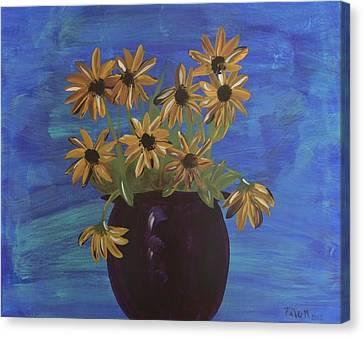 Sunny Day Sunflowers Canvas Print by Tatum Chestnut