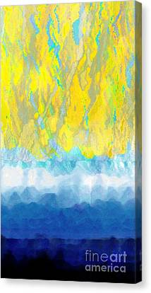 Canvas Print featuring the digital art Sunny Day Waters by Darla Wood