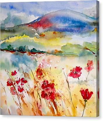 Sunny Field Canvas Print by Anna Ruzsan