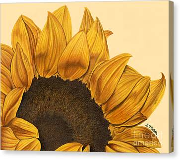 Sunny Flower Canvas Print by Sarah Batalka