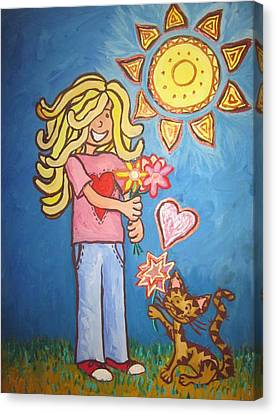 Sunny Girl Canvas Print by Cherie Sexsmith