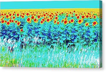 Sunny Kansas Canvas Print by Ann Johndro-Collins