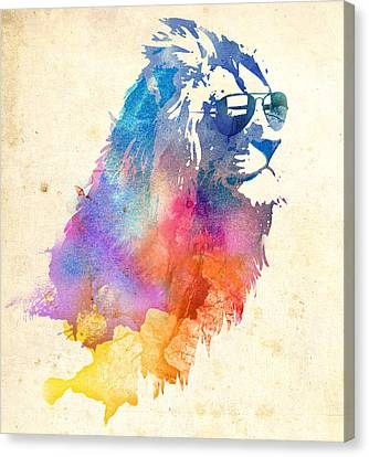 Lions Canvas Print - Sunny Leo by Robert Farkas
